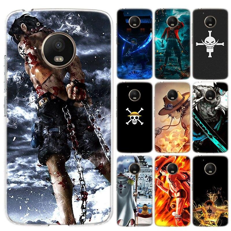 Anime une pièce étui de téléphone pour Motorola MOTO G8 G7 G6 G5 G5S G4 E6 E5 E4 Plus jouer puissance une Action Silicone souple housse en TPU