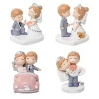 Menage bureau Figurines decoratives doux amour decorations de mariage figurine pour gateau de fete decoration accessoires de decoration de la maison