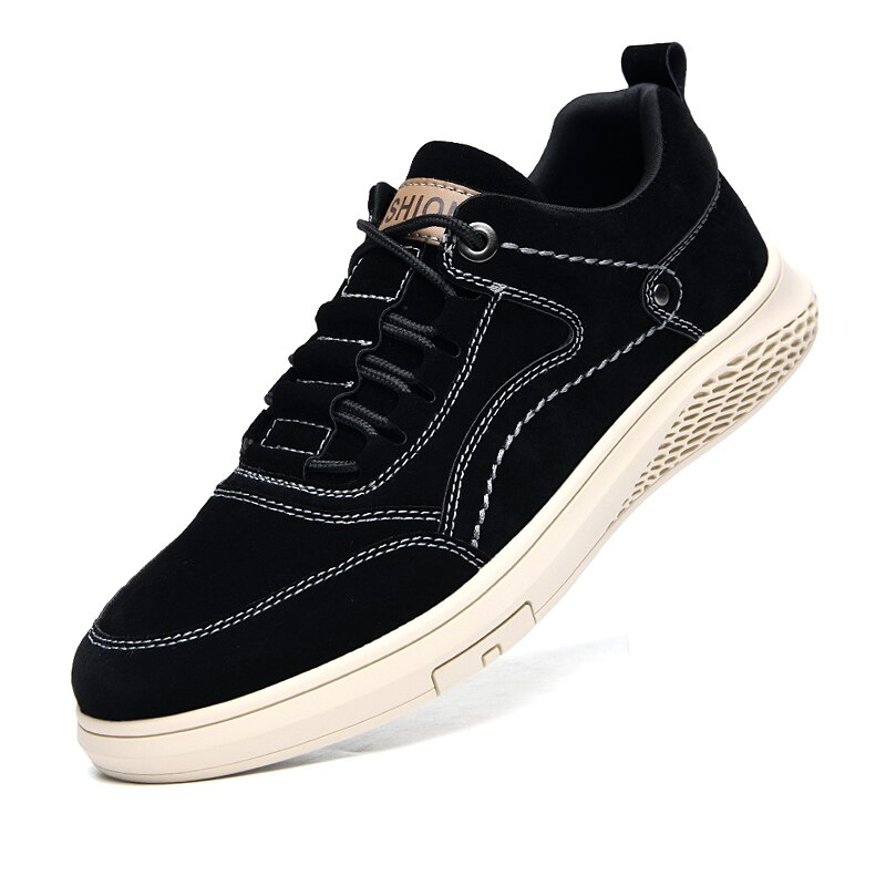 Sapatos de Moda Rendas até Confortáveis Casuais ao ar Livre dos Homens Couro Genuíno Oxfords Respirável Outono Sapatos Tênis *