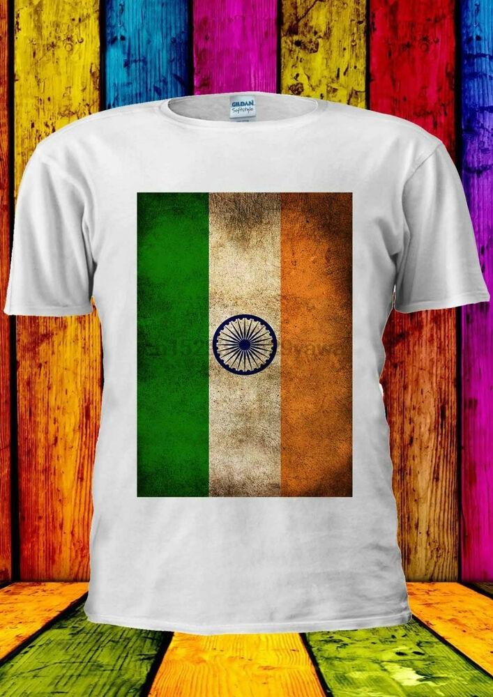 Indian Flag India Fashion Vintage T-shirt Vest Tank Top Men Women Unisex 1436