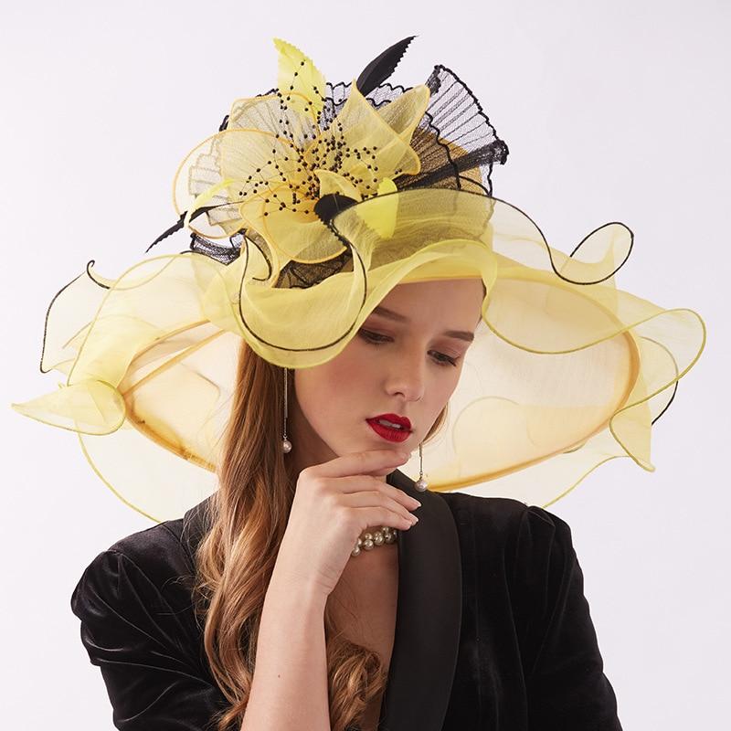 Женские головные уборы YSAN282, элегантные праздничные шляпки с цветами для свадьбы, 6 цветов