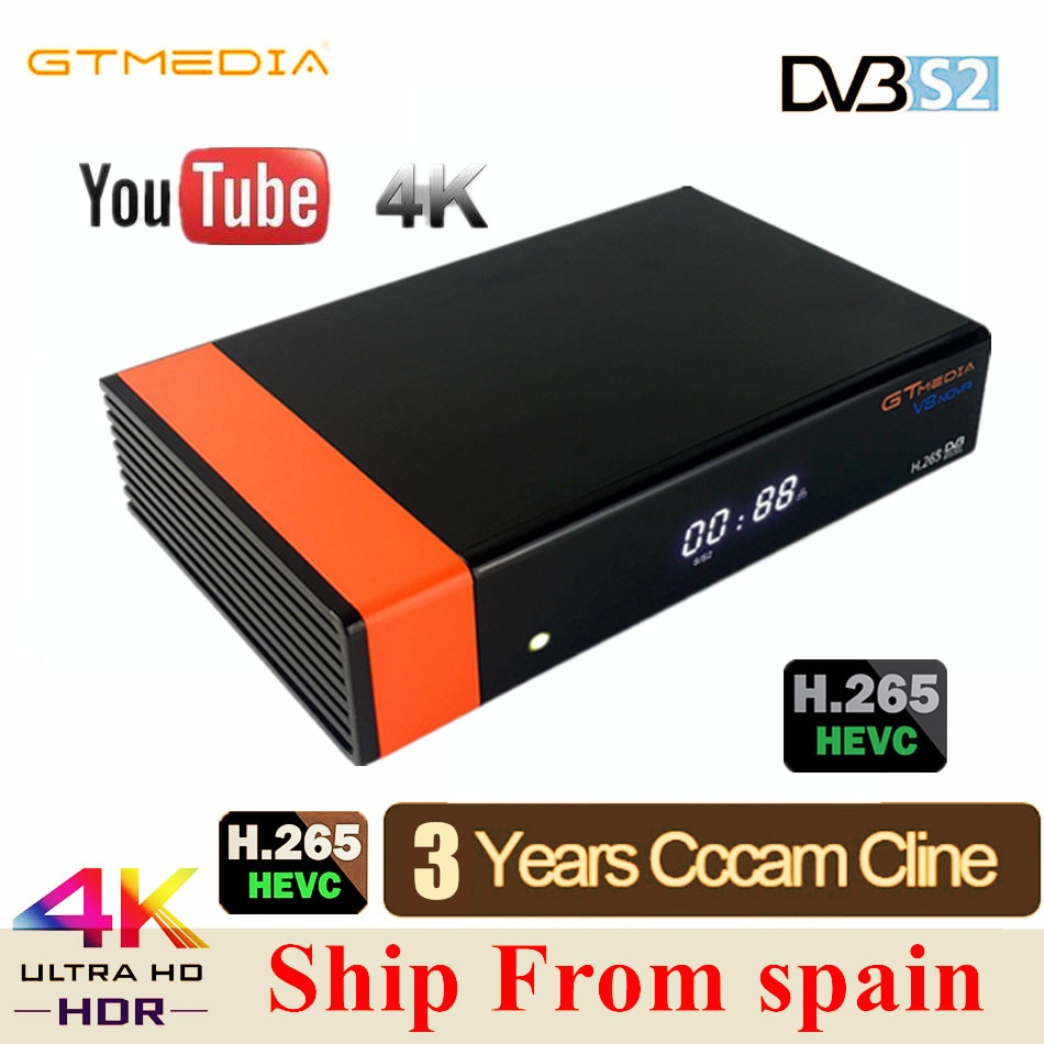 Спутниковый ТВ-ресивер GTMEDIA V8 Honor VDVB-S2 Freesat, FTA декодер, поддержка ключа PowerVu Biss, IP ТВ с 3-летней cccam clines V8 nova