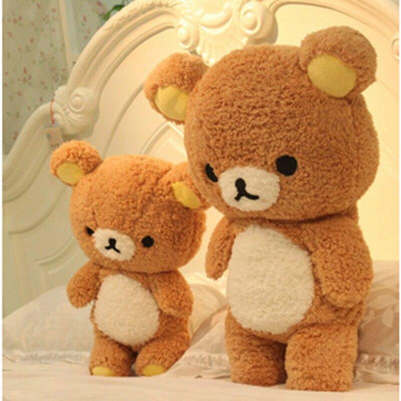 60/80cm schöne Rilakkuma Bär Plüsch Spielzeug kawaii Entspannen Bär Kissen Puppen Weiche Kuscheltiere kinder Tag geschenk geschenk für mädchen