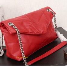 luxury designer women v thread chain strap hobo shoulder bag lady handbag soft import lambskin leath