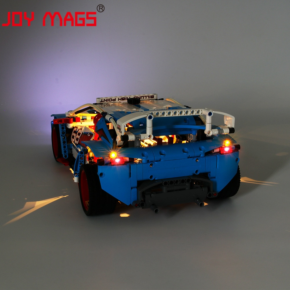 Купить с кэшбэком JOY MAGS Only Led Light Kit For 42077 Rally Car Compatible With 20077/10826 , (NOT Include Model)