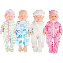 DOLL Clothes For 16Inches Doll New Born Baby Cute Baby Doll Costume Girl Christmas Birthday Gifts