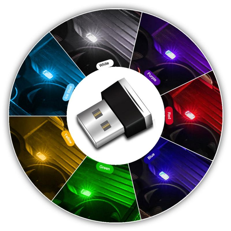 Мини-светодиод машины светильник USB атмосферный свет для Mercedes Benz AMG GLC260 C200L GLA CLA GL Class W176 W246 W205 X253 X156