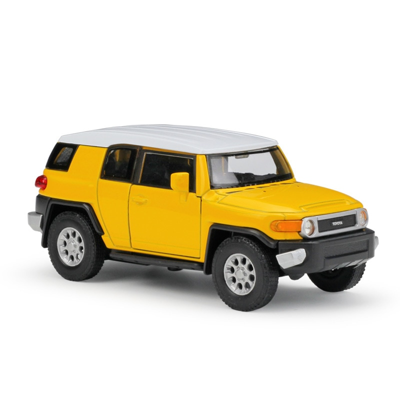1/36 FJ CRUISER aleación Diecast coches modelo Pull Metal trasero coche miniaturas coche de simulación estática Mini colección de Juguetes