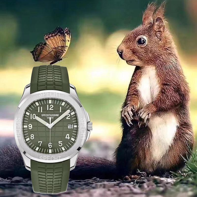 2021 Hot Selling Luxury Brand Specht&Sohne Automatic Watch Men Sports Watches Steel Rubber Starp Waterproof Relogio Masculino enlarge