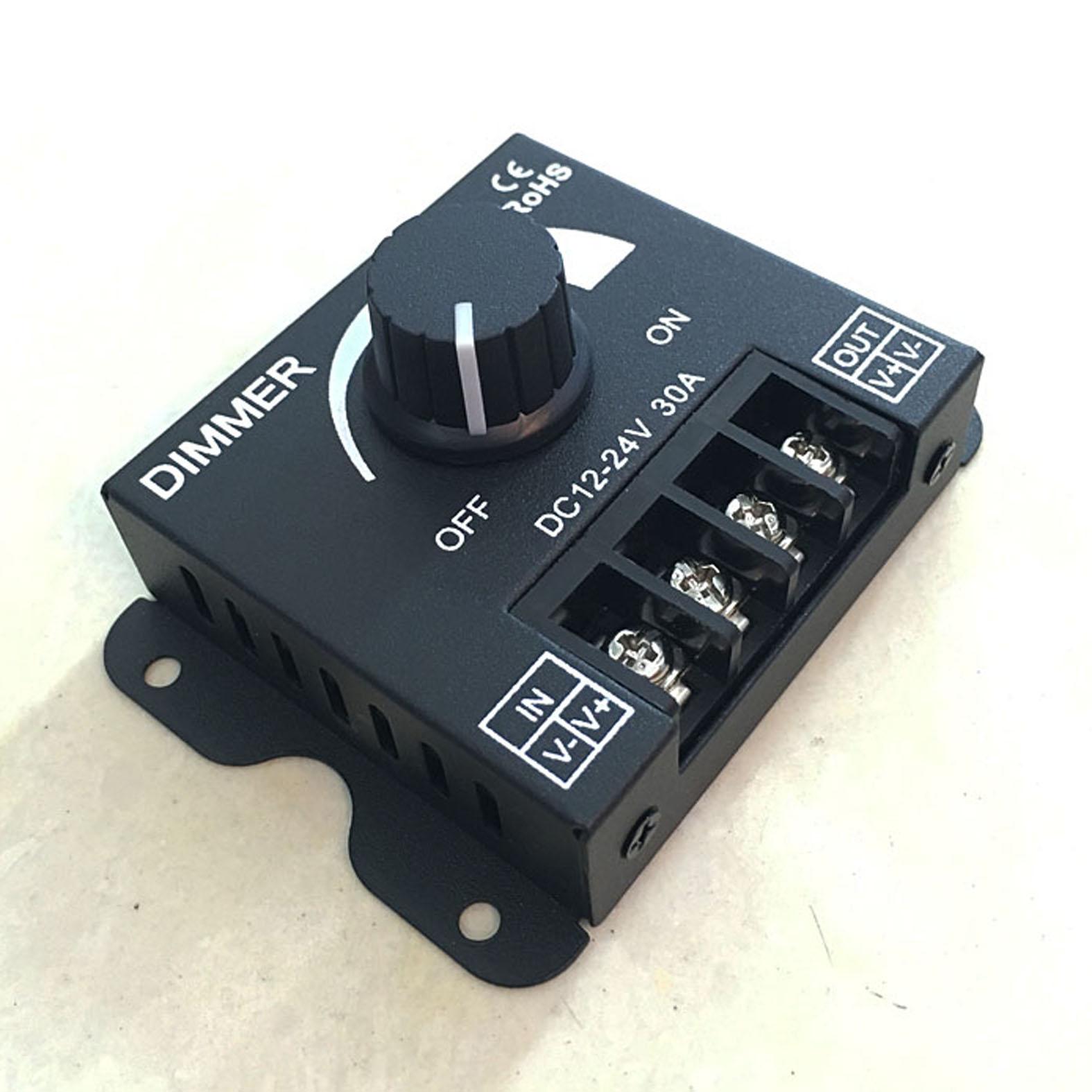 DC12V-24V LED atenuador 30A 360W brillo ajustable atenuación LED tira de luces controlador de un solo Color