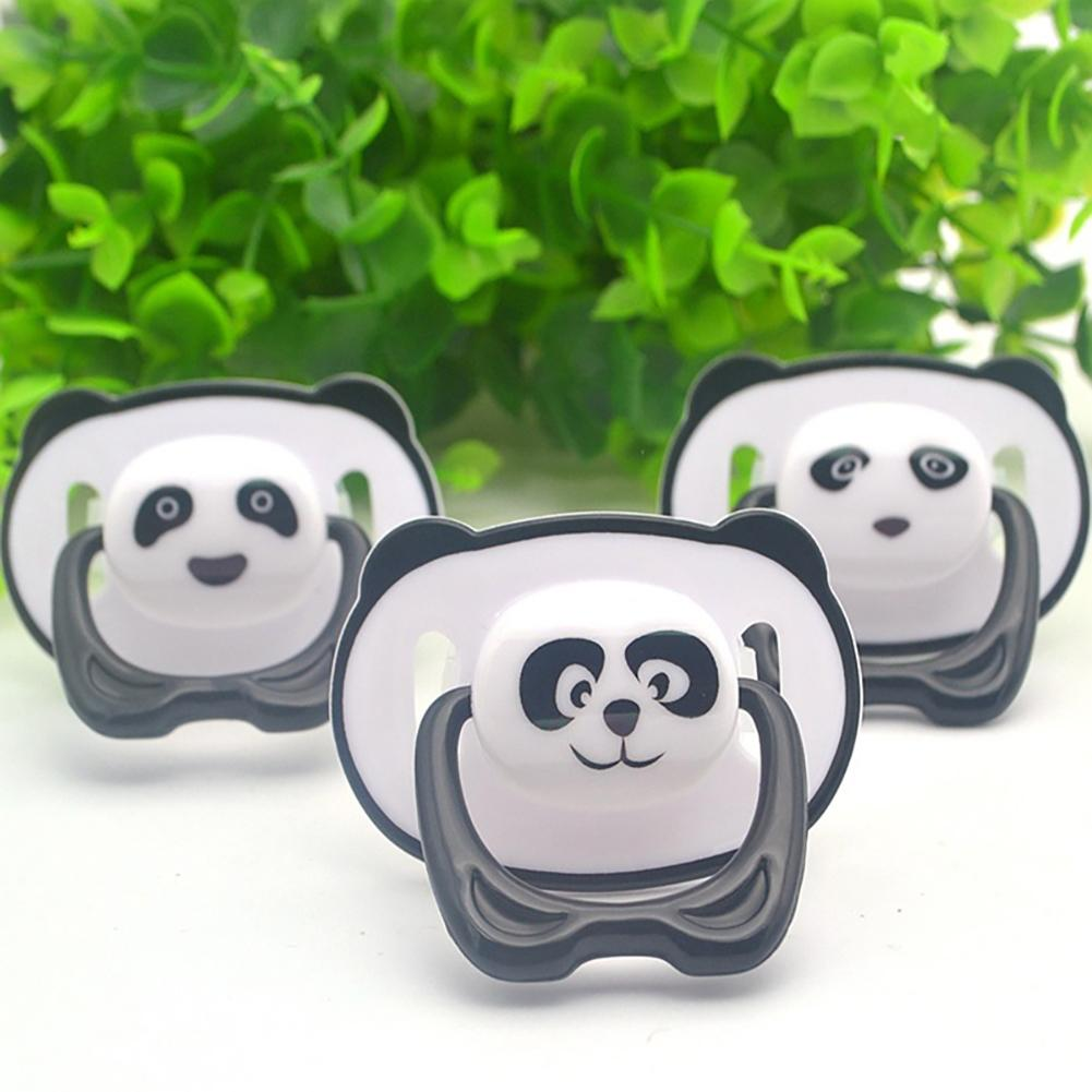 Nacido bebé chupete oso panda bebé de dibujo de grado alimenticio silicona ortodóntico chupete cabeza redonda y plana chupete pezón plano/cabeza redonda