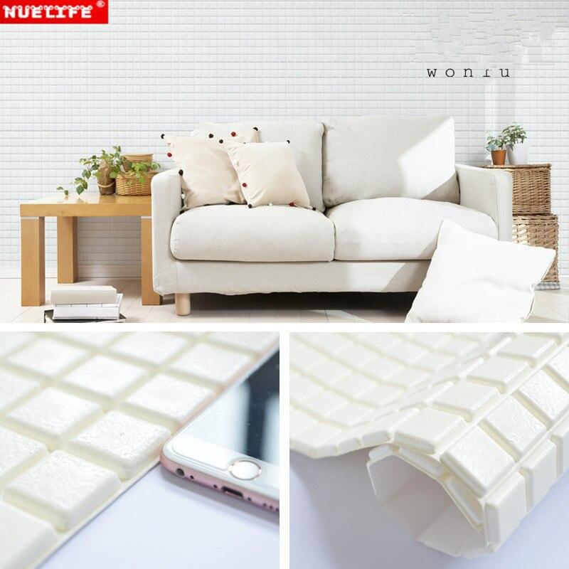 Pegatinas de pared 3D mosaico baño balcón pegatinas impermeables espesamiento niños anti-colisión bolsa suave papel tapiz autoadhesivo