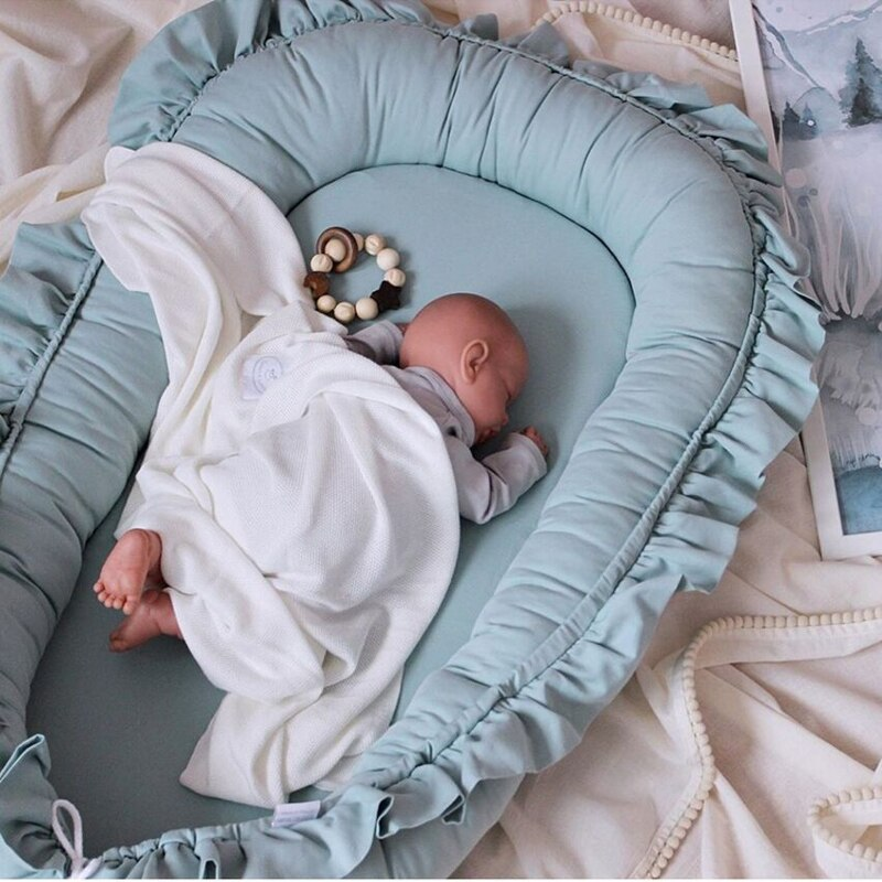 Removable Sleeping Nest for Baby Bed Crib with Pillow Travel Playpen Cot Infant Toddler Infant Cradle Mattress