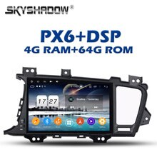 PX6 lecteur DVD de voiture DSP IPS Android 9.0 4GB + 64GB pour kia K5 OPTIMA 2011 2012 2013 2014 2015 RDS Radio Bluetooth 5.0 Wifi GPS carte