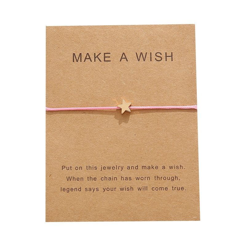 10 * 7.5 cm wishing card sticker adjustable fabric bracelet fashion jewelry gift, ladies, men, child