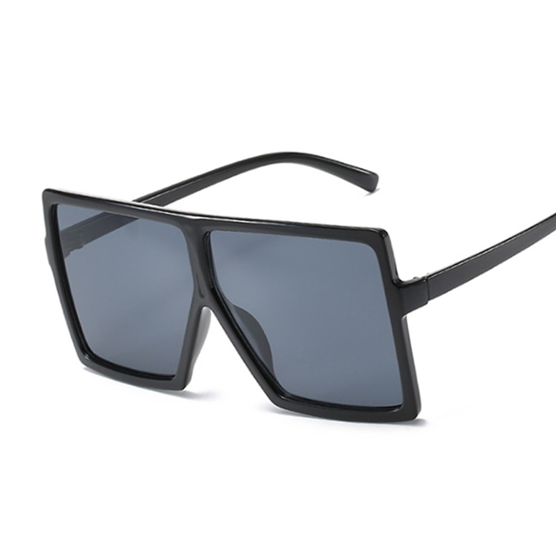 Oversized Shades Women Sunglasses Black Fashion Square Glasses Big Frame Sunglasses Vintage Retro Gl