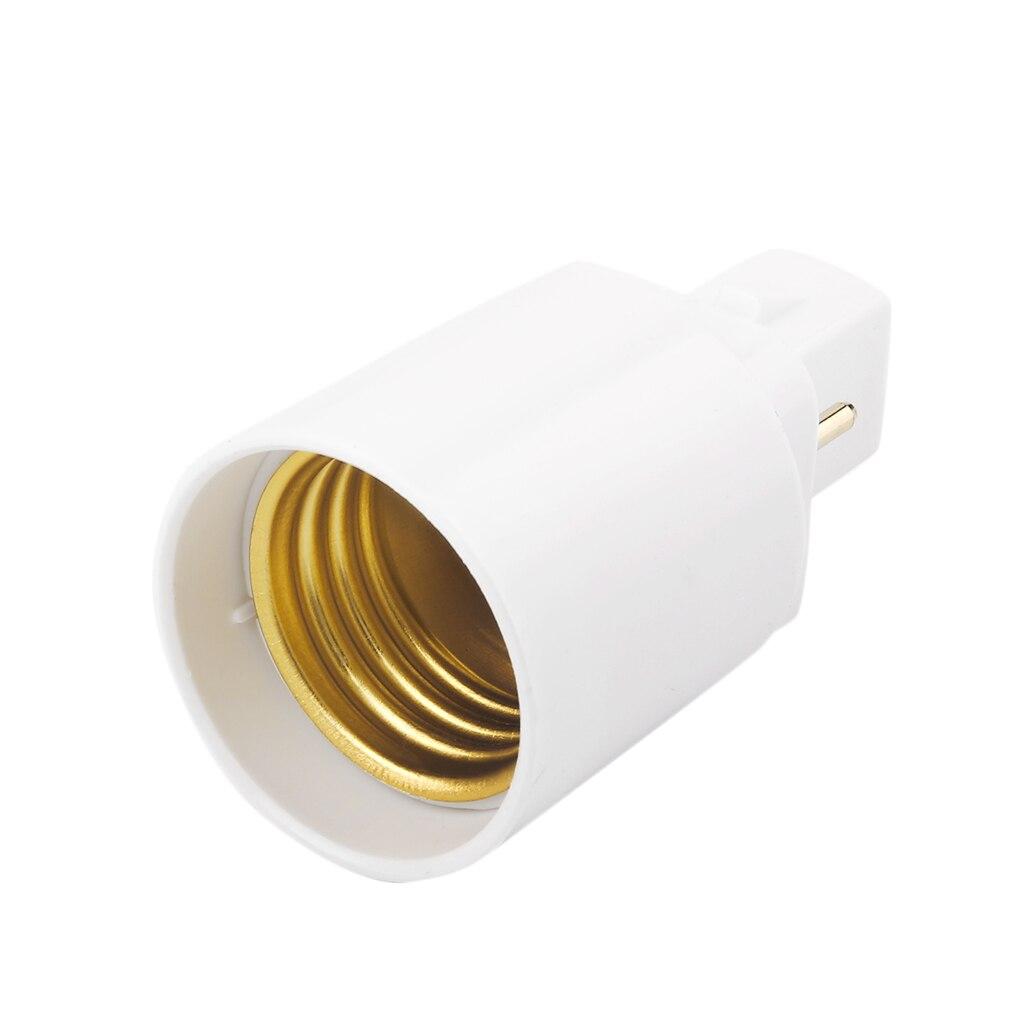 G24 - E27 retardante PBT zócalo Base tornillo LED lámpara halógena adaptador para bombilla convertidor 2 pines al por mayor