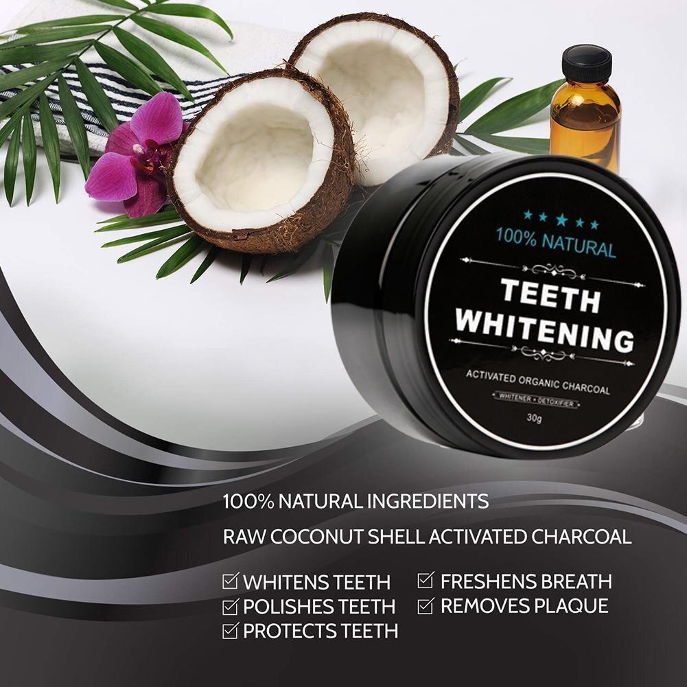 Порошок угля для отбеливания зубов, порошок черного угля для отбеливания зубов, уход за зубами, отбеливатель, порошок угля для полости рта, а...