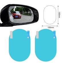 Film transparent Anti-buée pour rétroviseur de voiture, 2, pièces/ensemble, bleu, étanche, accessoires de protection pour miroir de voiture