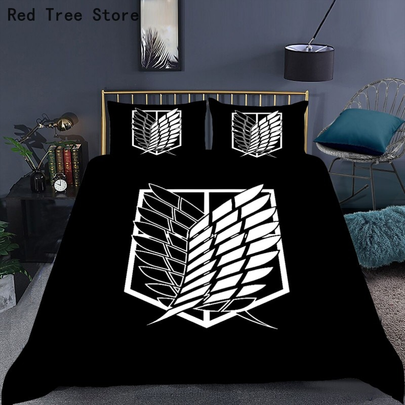Anime Attack on Titan 3D Printed Comforter Bedding Set Duvet Cover Sets Pillowcases Bedclothes Bed Linen Queen King Single Size