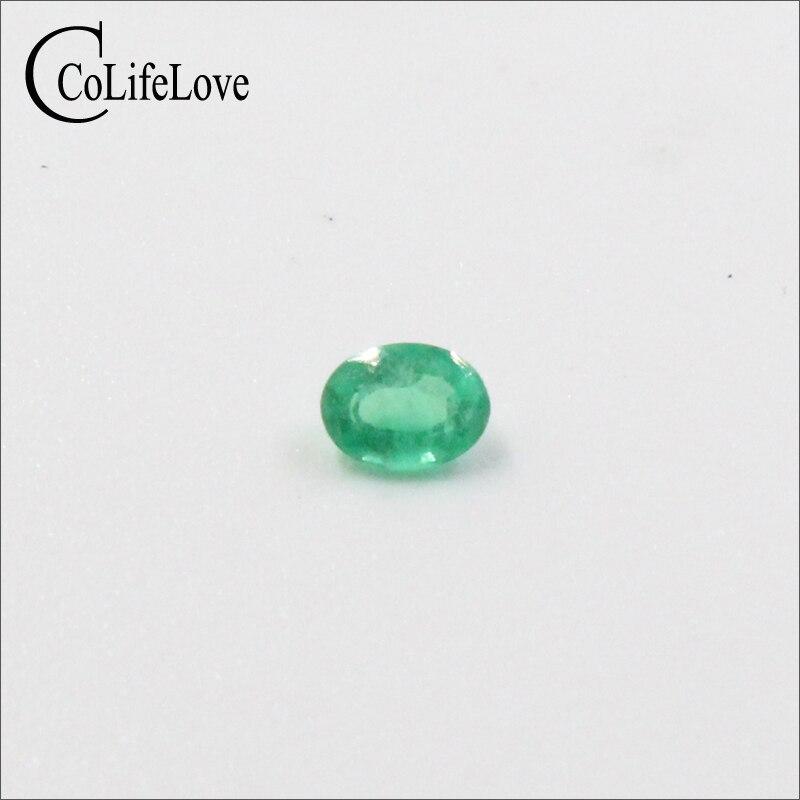 100% piedras preciosas sueltas de Esmeralda Natural Real para la joyería precio al por Mayor 3mm * 4mm corte ovalado SI grado Esmeralda colombiana