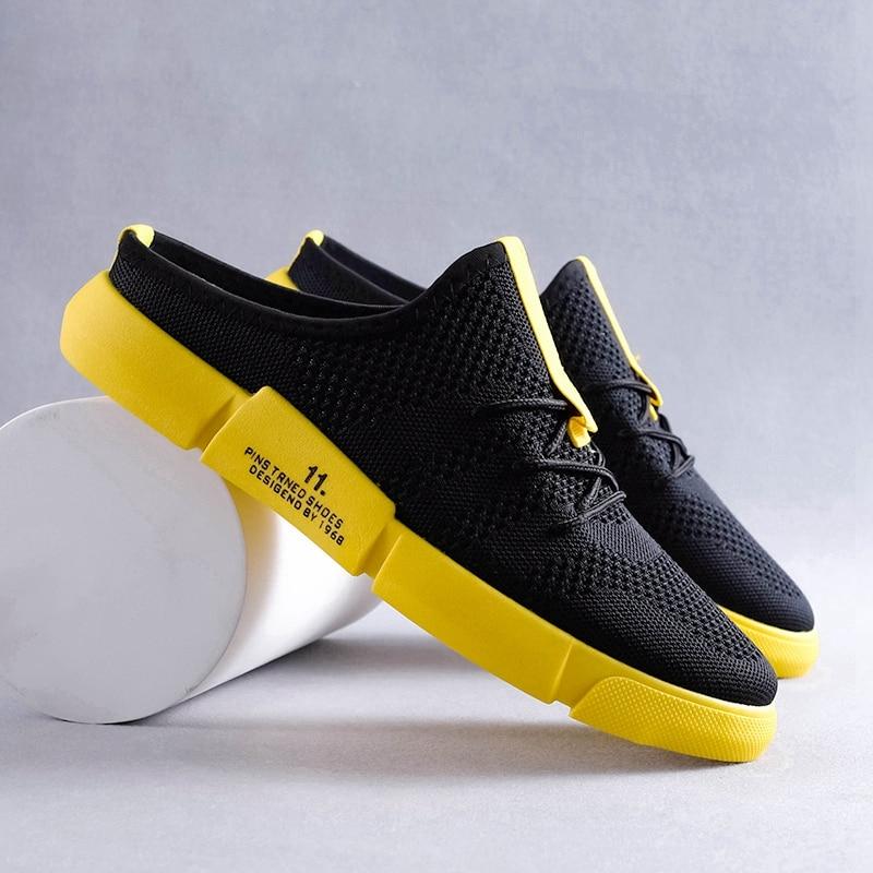 حذاء رجالي 2021 الصيف تنفس بدون كعب صندل موضة خياطة كسول الوجه يتخبط شبكة حزام أحذية مصممين