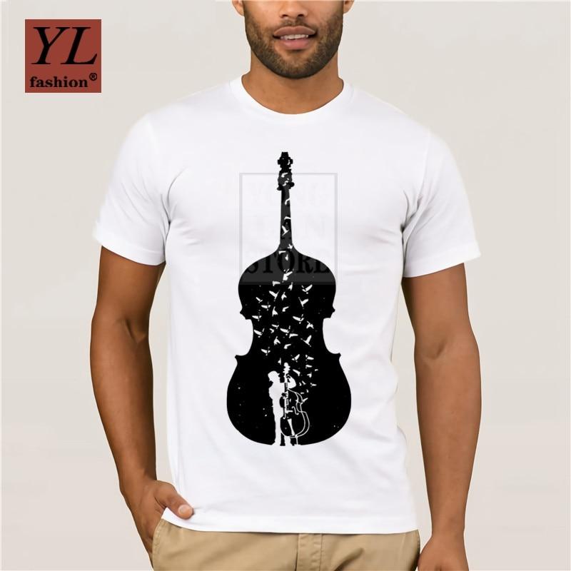 2019 homens tshirt guitarra baixo duplo a borboleta melody t camisas amor música moda masculina