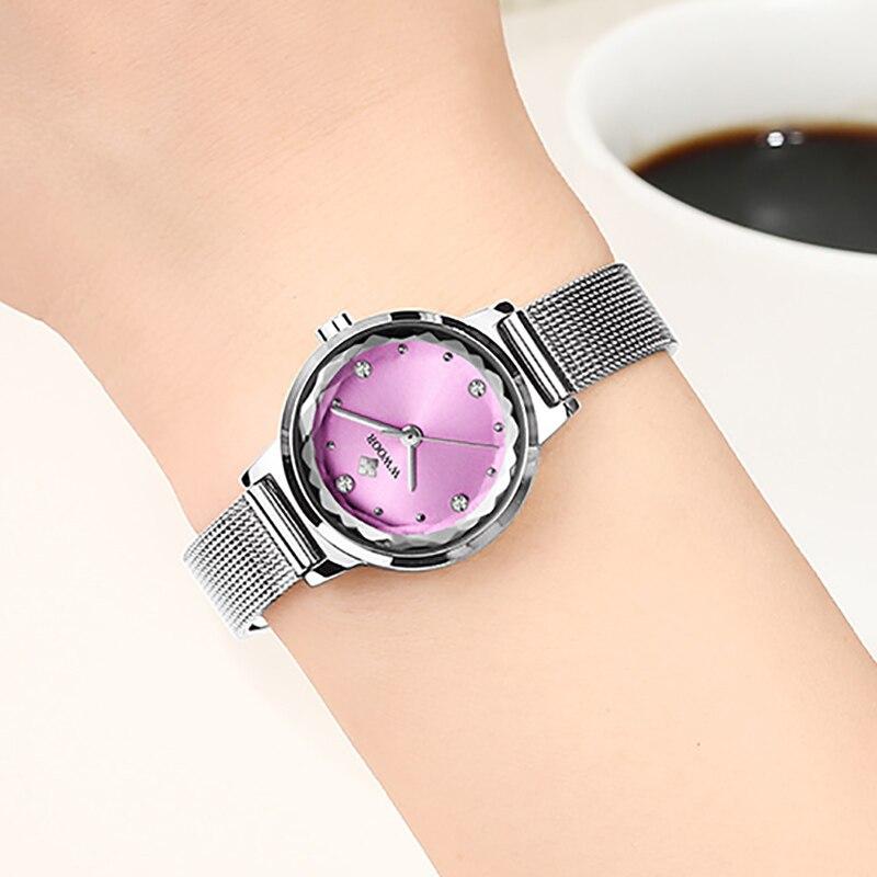 2021 WWOOR Top Brand Full Stainless Steel Women Watch Waterproof Simple Quartz Watch Diamond Luxury Casual Dress For Ladies Gift enlarge