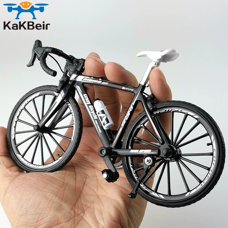KaKBeir 1:10 Alloy Bicycle Model Diecast Metal Finger Mountain bike Racing Toy Bend Road Simulation Collection Toys for children