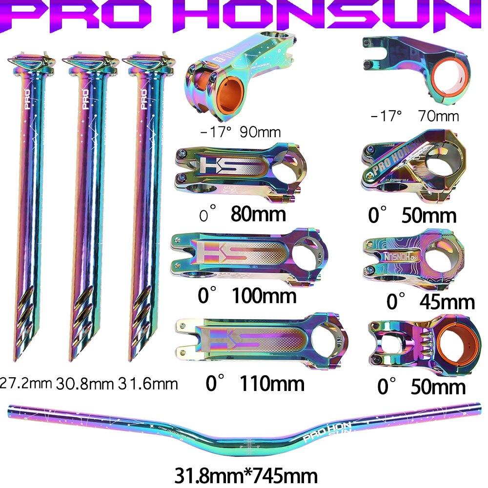 PROHONSUN велосипедный вынос руля на руле и под сиденьем велосипеда красочные отрицательный угол-17 ° 0 ° 50 мм 70 мм (90 мм) с короткой ножке в форме 27,...