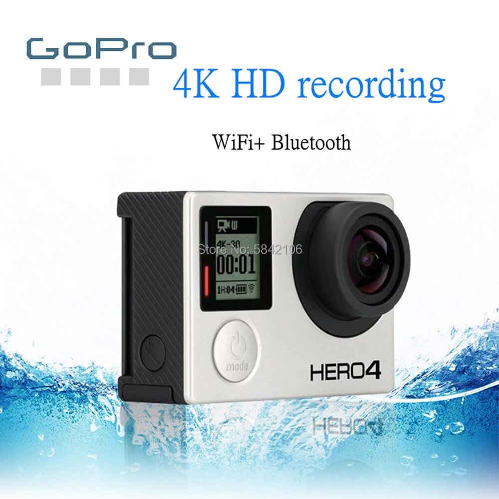 GoPro HD بطل 4 أسود عمل كاميرا الفيديو GOPRO بطل 4 أسود مقاوم للماء كاميرا رياضية فائقة واضحة 4K