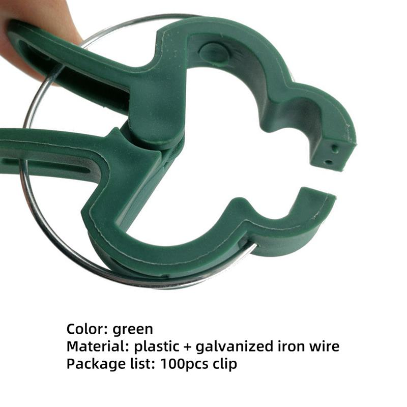 100PCS Plant Support Clips Garden Clips Flower Orchid Stem Clips For Vine Suppor Plant Grafting Stakes Connector Clip