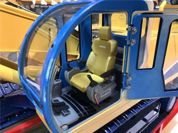 Asiento de simulación de cabina interior para 1/14 1/12 RC juguete hidráulico excavadora camión RC4WDD LESU zenoah Caterpillarr personaje liebherrr