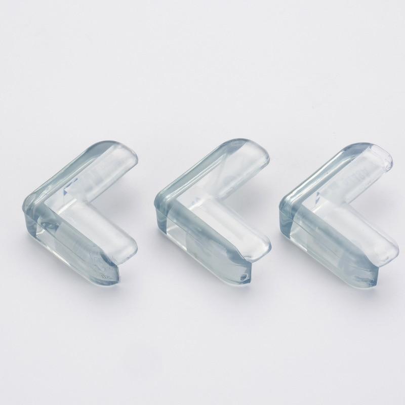 4 unids/set seguridad del bebé en forma de L protector transparente cubierta protectores de esquina de mesa de protección de los niños muebles protecciones de borde de esquina