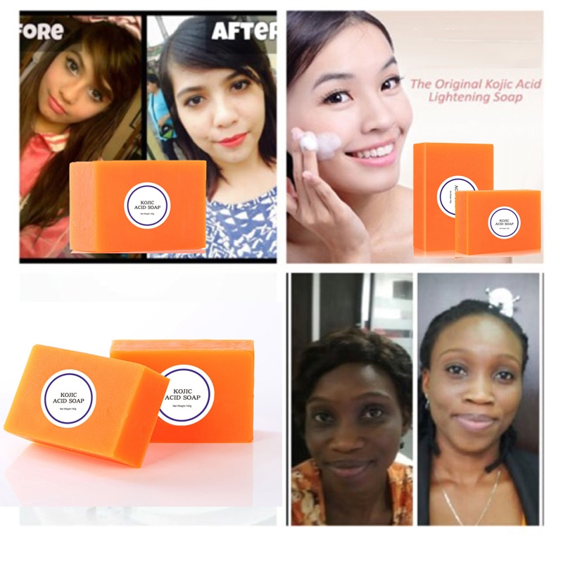 Dark Black Skin Lightening Soap Kojic Acid Whitening Soap Kojic Acid Glycerin Brighten Face Body Skin Bleaching Soap