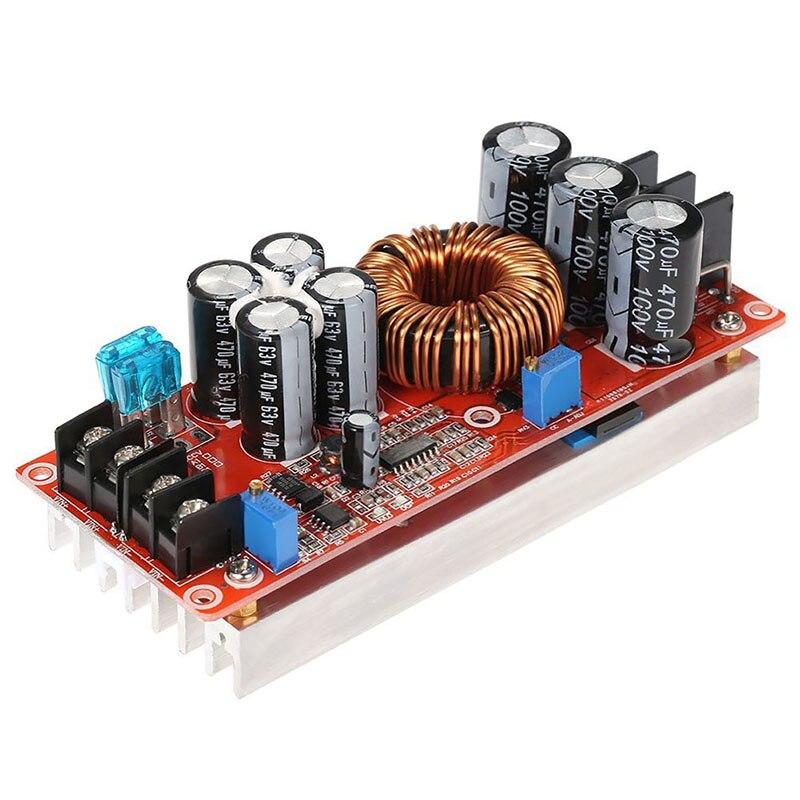 Розничная продажа 1200 Вт высокой мощности конвертер усилитель Повышающий Модуль питания 20A в 8-60 в выход 12-80 в Регулируемый