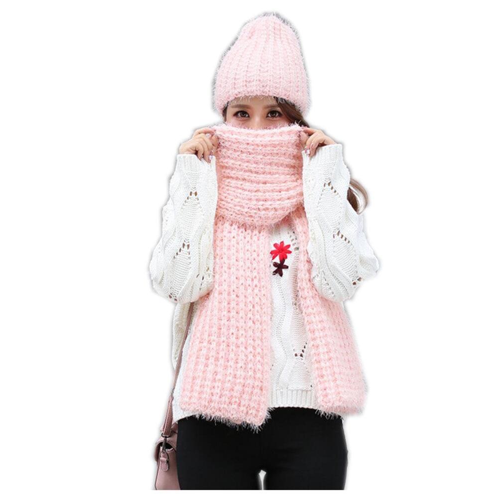 Jzhifiyer вязаные шарфы шляпа устанавливает дизайнерские зимние однотонные шарфы Шапки женские круглый шарф новый шарф шляпа вязать набор Mujer ш...
