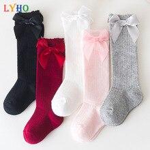 LYHO Baby Socks 2021 Winter Spring Toddler Knee High Kids Girls Socks for 6M 12M 2 Years Bowknot Chi