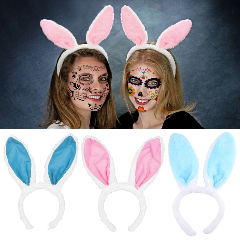 Easter Adult Children Halloween Sequins Rabbit Ears Headband Rabbit Headwear Bunny Hairpin Festival Hair Accessories Hairband 2019 sell like hot professional easter bunny mascot costumes rabbit and bugs bunny adult mascot for sale