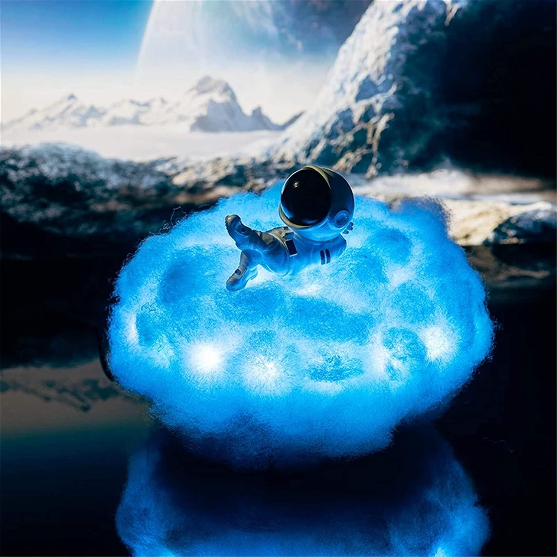 Красочное облако астронавт свет с радужным эффектом, детский ночсветильник Креативные украшения подарки, 3D Звезда облака Свет Декор