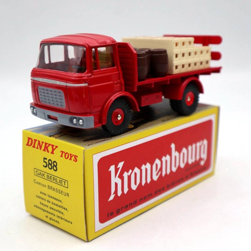 Atlas dinky toys 588 platô brasseur berliet gak camion vermelho diecast modelos coleção