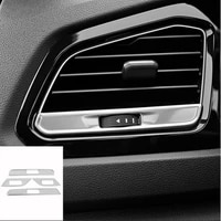 sbtmy 4pcsset stainless steel decorative patch air outlet of front air conditioner of automobile for volkswagen t roc 201819