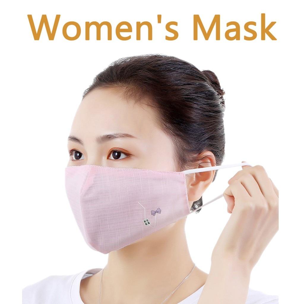 3 шт. модная женская и мужская вышивка, kawaii, дышащая, моющаяся, многоразовая, maske Facemask, для кемпинга, путешествий