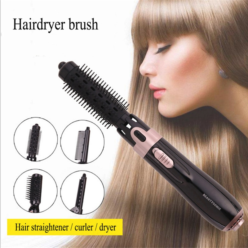 3 in 1 Professional Hair Dryer Hair Curling Machine Hot Air Brush Hairdryer Curling Comb Hair Straightener For Women enlarge