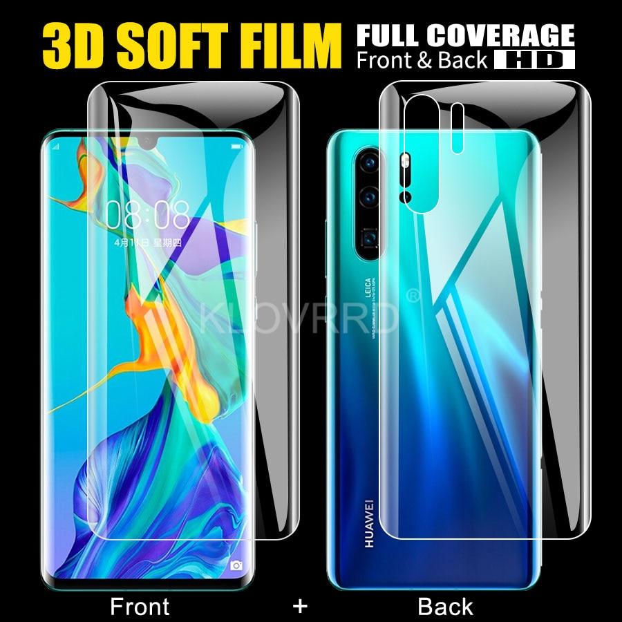Для Huawei P30 Honor 20 Lite 8x pro P Smart plus, 2019, защитная пленка для экрана Honor Play, силиконовая Гидрогелевая наклейка