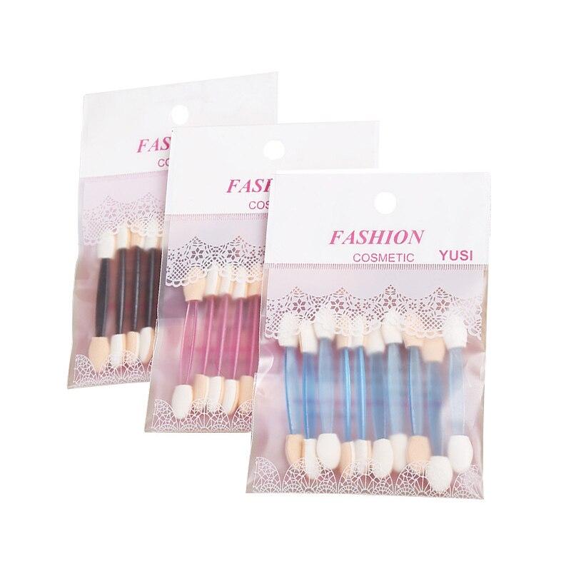 10pcs/set Disposable Double end Eye Shadow Eyebrow Eyeliner Brush Sponge Applicator Tool Women Beaut