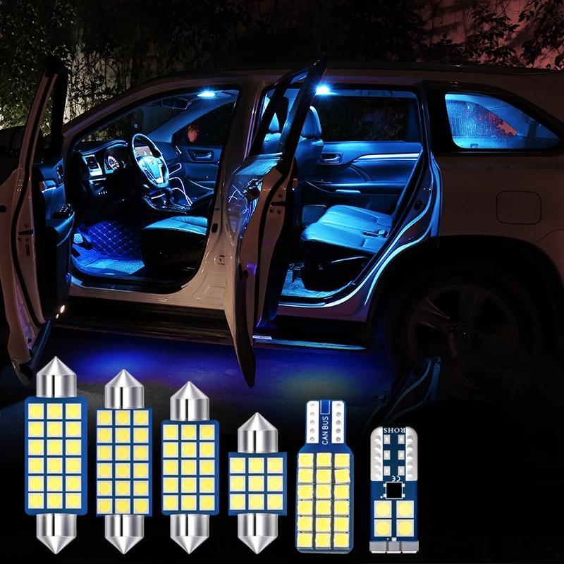 9pcs White Auto LED Bulbs Car Interior lights Kit for Skoda Kodiak 2017 2018 2019 Dome Reading Lights Mirror Makeup Trunk Lamps