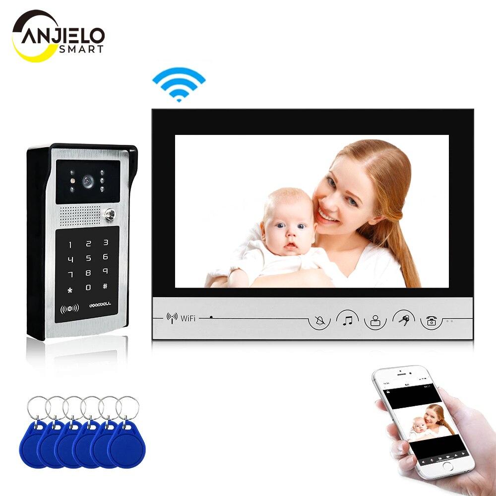 WIFI smart 9 inch Home video door phone intercom system Password Unlock HD Screen Intercom System
