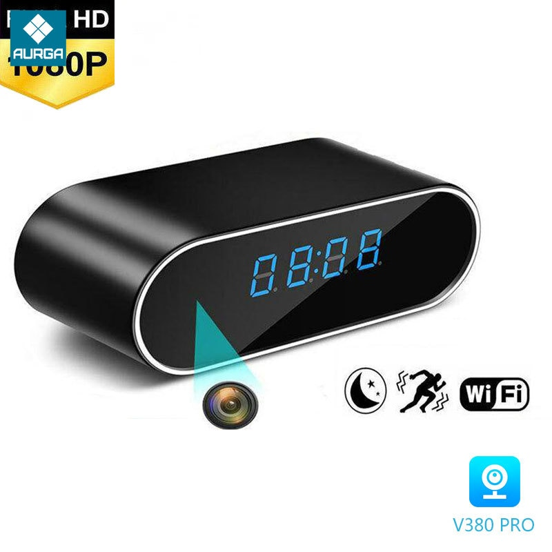 HD 4K 1080P Clock Wifi IP Mini Camera Home Security Control Concealed IR Night View Alarm Camcorder Digital Video P2P Micra Cam enlarge