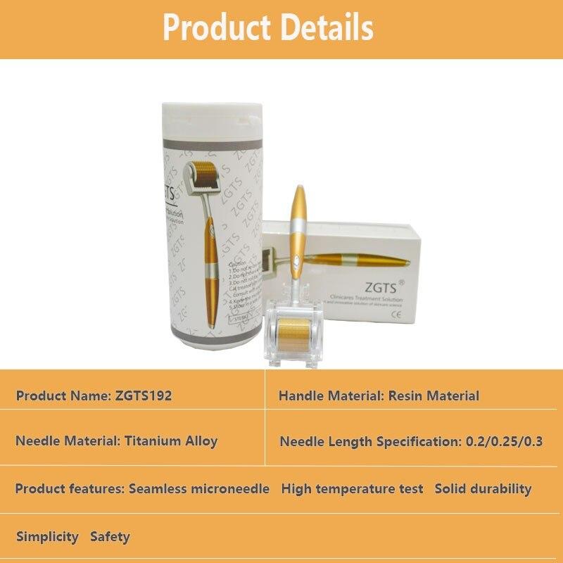 DR Derma Roller Titanium Tips 0.3mm 0.25mm 0.2mm Titanium Mesoroller for Body Face Treatment Micro Needle Mezoroller Dermaroller